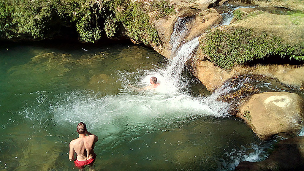 Topes-waterfall-swimming
